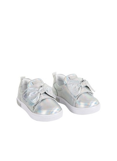 Kids A More Alexandra Kurdeleli Kız Çocuk Deri Ayakkabı  Gümüş